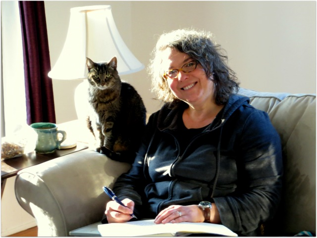 My familiar and I in March 2014.